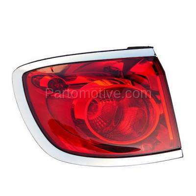 Aftermarket Auto Parts - TLT-1607LC CAPA 08-12 Buick Enclave Taillight Taillamp Rear Brake Light Lamp Driver Side L
