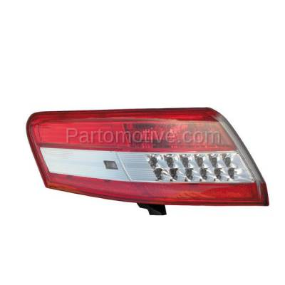 Aftermarket Auto Parts - TLT-1619LC CAPA 10-11 Camry Taillight Taillamp Rear Brake Outer Light Lamp Driver Side LH L