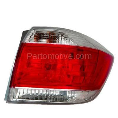 Aftermarket Auto Parts - TLT-1647RC CAPA 11-13 Highlander Taillight Taillamp Rear Brake Light Lamp Passenger Side R