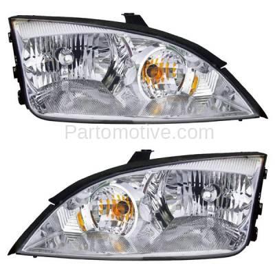 Aftermarket Auto Parts - HLT-1267LC & HLT-1267RC CAPA 05-07 Focus ZX4 Headlight Headlamp Halogen Head Light Left & Right Set PAIR