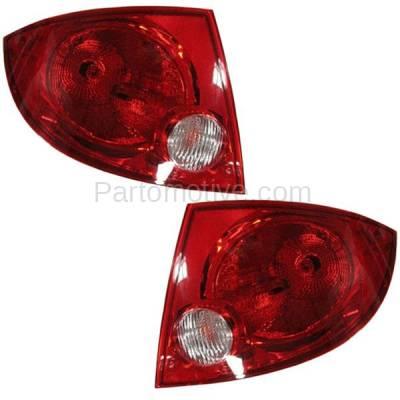 Aftermarket Auto Parts - TLT-1174LC & TLT-1174RC CAPA Cobalt G5 4DR Taillight Taillamp Rear Brake Light Lamp Left Right Set PAIR