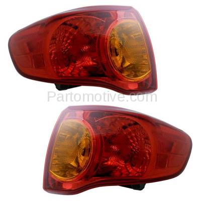 Aftermarket Auto Parts - TLT-1396LC & TLT-1396RC CAPA 09-10 Corolla Taillamp Taillight Rear Brake Light Lamp Left Right Set PAIR