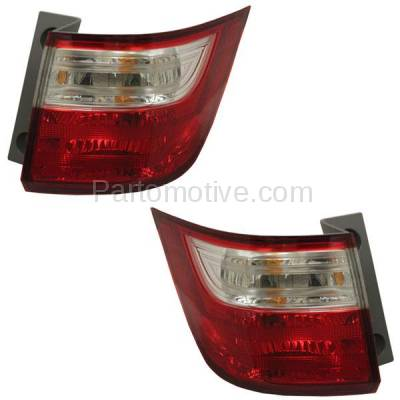 Aftermarket Auto Parts - TLT-1638LC & TLT-1638RC CAPA 11-13 Odyssey Taillight Taillamp Brake Light Outer Lamp Left Right Set PAIR