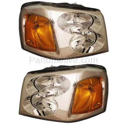 Aftermarket Auto Parts - HLT-1116LC & HLT-1116RC CAPA 02-09 Envoy XL XUV Headlight Headlamp Head Light Lamp Left & Right Set PAIR