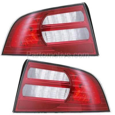 Aftermarket Auto Parts - TLT-1353LC & TLT-1353RC CAPA 07-08 Acura TL Base Taillight Taillamp Brake Light Lamp Left Right Set PAIR