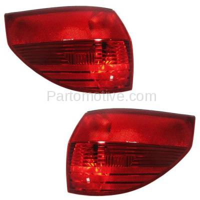 Aftermarket Auto Parts - TLT-1108LC & TLT-1108RC CAPA 04-05 Sienna Taillight Taillamp Outer Brake Light Lamp Left Right Set PAIR