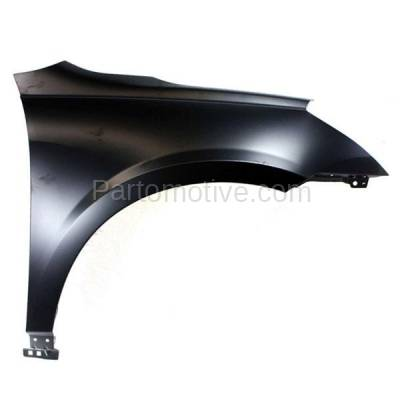 Aftermarket Replacement - FDR-1777RC CAPA 2009-2017 Chevrolet Traverse (3.6 Liter V6 Engine) Front Fender Quarter Panel (without Molding Holes) Steel Right Passenger Side