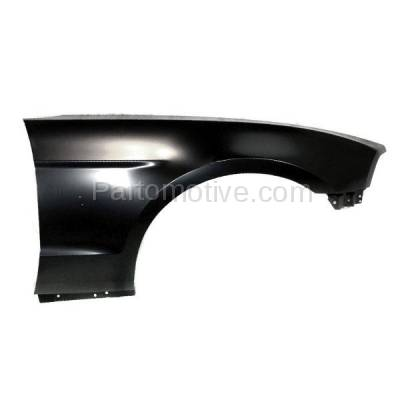 Aftermarket Replacement - FDR-1516RC CAPA 2010-2014 Ford Mustang V6/V8 (Models with Performance & Pony Package) Front Fender Quarter Panel Steel Right Passenger Side
