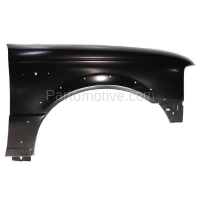 Aftermarket Replacement - FDR-1601RC CAPA 1998-2003 Ford Ranger Pickup (2WD & 4WD) Front Fender Quarter Panel (with Wheel Opening Molding Holes) Steel Right Passenger Side
