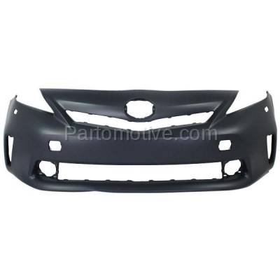 Aftermarket Replacement - BUC-3299FC CAPA 12-14 Prius V Front Bumper Cover Halogen Headlamps TO1000389 5211947926