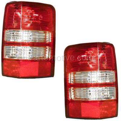 Aftermarket Replacement - TLT-1407L & TLT-1407R 08-12 Liberty Taillight Taillamp Rear Brake Light Lamp Left Right Side Set PAIR