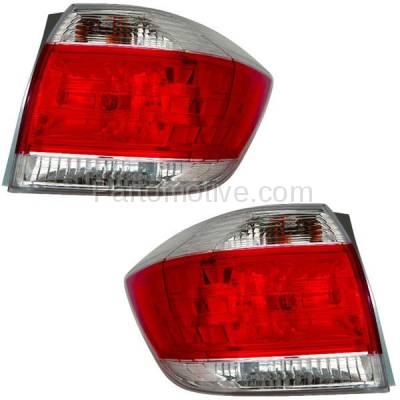 Aftermarket Auto Parts - TLT-1647LC & TLT-1647RC CAPA 11-13 Highlander Taillight Taillamp Brake Light Lamp Left & Right Set PAIR