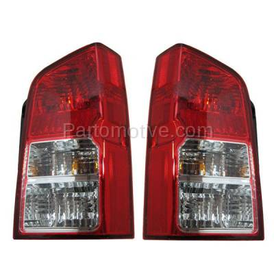 Aftermarket Auto Parts - TLT-1207LC & TLT-1207RC CAPA 05-12 Pathfinder Taillight Taillamp Brake Light Outer Lamp Right & Left Set
