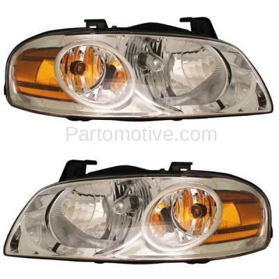 Aftermarket Replacement - HLT-1196L & HLT-1196R 04-06 Sentra S Base Headlight Headlamp Head Light Lamp Right Left Side Set PAIR