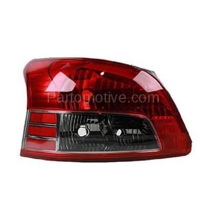 Aftermarket Auto Parts - TLT-1622LC CAPA 07-11 Yaris S Sedan Taillight Taillamp Rear Brake Light Lamp Driver Side LH