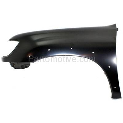 Aftermarket Replacement - FDR-1787L 2000-2006 Toyota Tundra Pickup Truck (excluding Double Crew Cab) Front Fender (with Flare Holes) Primed Steel Left Driver Side