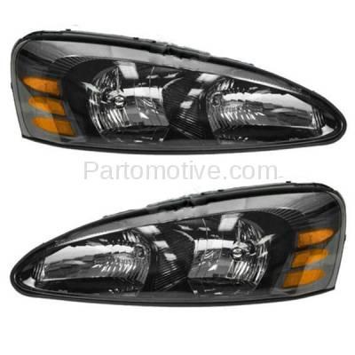 Aftermarket Replacement - HLT-1219LC & HLT-1219RC CAPA 04-08 Grand Prix Headlight Headlamp Head Light Lamp Left Right SET PAIR DOT