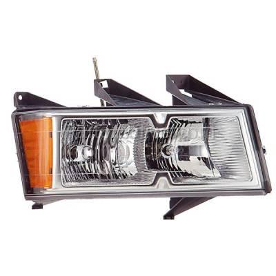 Aftermarket Replacement - HLT-1240RC CAPA Canyon Colorado Chrome Bezel Headlight Headlamp Head Light Passenger Side