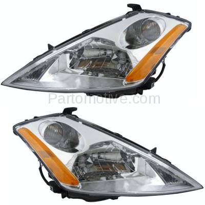 Aftermarket Replacement - HLT-1246LC & HLT-1246RC CAPA 03-07 Murano Headlight Headlamp Halogen Head Light Lamp Left Right Set PAIR