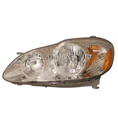 Aftermarket Replacement - HLT-1336LC CAPA 05-08 Corolla CE & LE Headlight Headlamp Front Head Light Lamp Driver Side