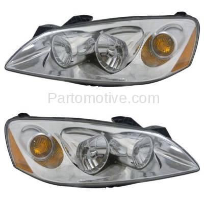 Aftermarket Replacement - HLT-1288LC & HLT-1288RC CAPA 05-10 Pontiac G6 Headlight Headlamp Head Light Lamp Left & Right Set PAIR