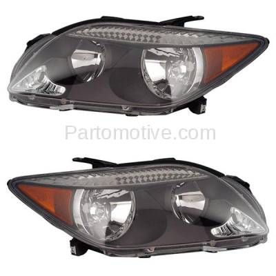 Aftermarket Replacement - HLT-1294LC & HLT-1294RC CAPA 05-07 Scion tC Headlight Headlamp Front Head Light Lamp Left Right Set PAIR