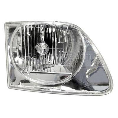 Aftermarket Replacement - HLT-1104RC CAPA 01-03 F150 Lightning Truck Headlight Headlamp Head Light Passenger Side RH