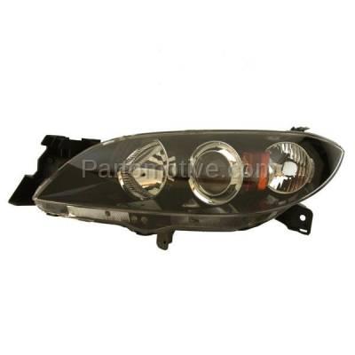 Aftermarket Replacement - HLT-1293LC CAPA 04-09 Mazda 3 Sedan 4-Door Headlight Headlamp Head Light Lamp Driver Side