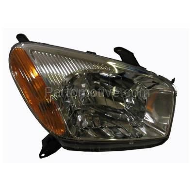 Aftermarket Replacement - HLT-1128RC CAPA 01-03 Rav-4 Headlight Headlamp w/o Sport Head Light Lamp Passenger Side RH