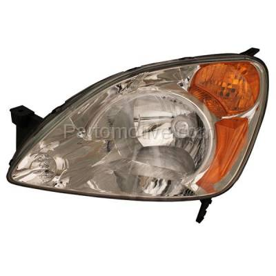 Aftermarket Replacement - HLT-1148LC CAPA 02-04 CR-V CRV Headlight Headlamp Front Head Light Lamp Driver Side DOT SAE
