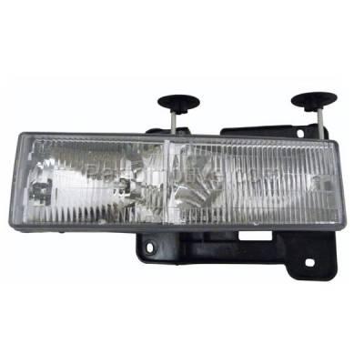 Aftermarket Replacement - HLT-1044LC CAPA C/K Pickup Truck Headlight Headlamp Composite Head Light Lamp Driver Side