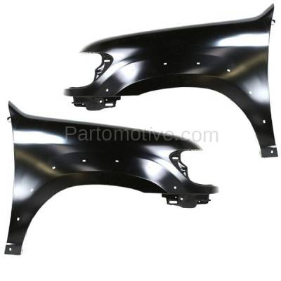 Aftermarket Replacement - FDR-1674LC & FDR-1674RC CAPA 2005-2007 Toyota Sequoia Limited/SR5 (4.7L Engine) Front Fender Quarter Panel (with Flare Holes) Steel SET PAIR Right & Left Side