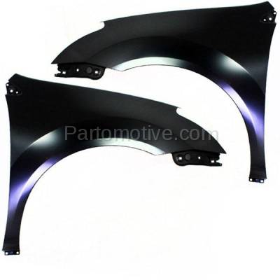 Aftermarket Replacement - FDR-1622LC & FDR-1622RC CAPA 2011-2013 Nissan Rogue & 2014-2015 Rogue Selection (2.5 Liter Engine) Front Fender Quarter Panel Primed Steel SET PAIR Right & Left Side