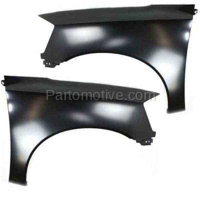 Aftermarket Replacement - FDR-1757LC & FDR-1757RC CAPA 2005-2015 Nissan Titan (5.6 Liter V8 Engine) (without Sport Appearance Package) Front Fender Quarter Panel SET PAIR Right & Left Side
