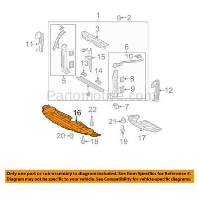 Ess 1610 For 11 19 Sienna Front Engine Splash Shield Under