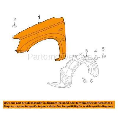 Aftermarket Replacement - FDR-1380L 01-07 Highlander Front Fender Quarter Panel Driver Side LH TO1240187 5380248070 - Image 3