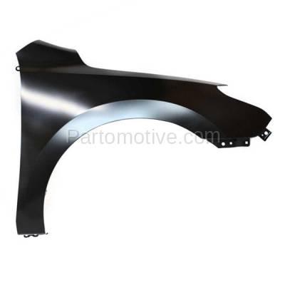 Aftermarket Replacement - FDR-1240R Front Fender Quarter Panel Passenger Side For 09-12 Elantra HY1241145 663212L010 - Image 1