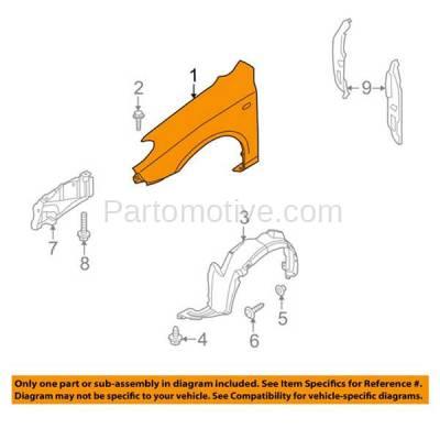 Aftermarket Replacement - FDR-1240R Front Fender Quarter Panel Passenger Side For 09-12 Elantra HY1241145 663212L010 - Image 3