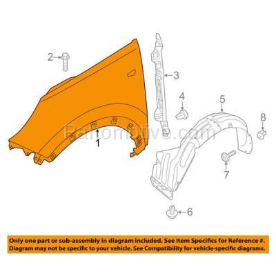 Aftermarket Replacement - FDR-1719L Front Fender Quarter Panel Driver Side For 11-16 Sportage KI1240136 663113W000 - Image 3