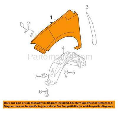 Aftermarket Replacement - FDR-1236R 07-10 Edge Front Fender Quarter Panel Right Passenger Side FO1241257 7T4Z16005A - Image 3