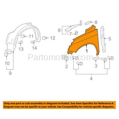 Aftermarket Replacement - FDR-1186R 07-11 CRV Front Fender Quarter Panel Passenger Side RH HO1241171 60211SWAA91ZZ - Image 3