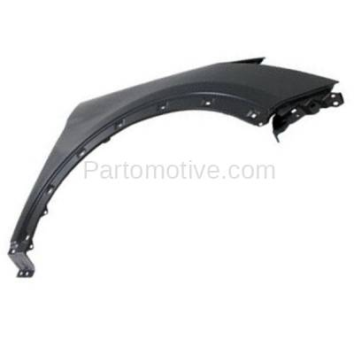 Aftermarket Replacement - FDR-1657R 2013-2018 Hyundai Santa Fe Sport (2.0 & 2.4 Liter Engine) (with Molding Holes) Front Fender Quarter Panel Primed Steel Right Passenger Side - Image 2