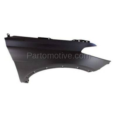 Aftermarket Replacement - FDR-1657R 2013-2018 Hyundai Santa Fe Sport (2.0 & 2.4 Liter Engine) (with Molding Holes) Front Fender Quarter Panel Primed Steel Right Passenger Side - Image 3