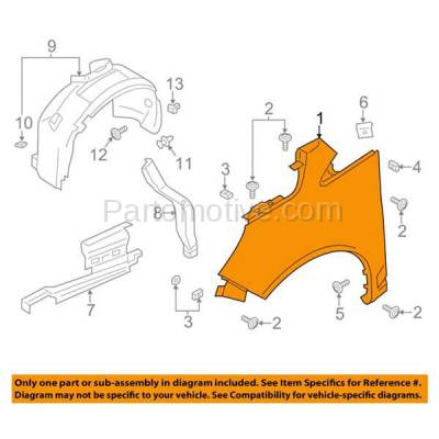 Aftermarket Replacement - FDR-1111R 13-16 C-Max Front Fender Quarter Panel Right Passenger Side FO1241290 DM5Z16005A - Image 3