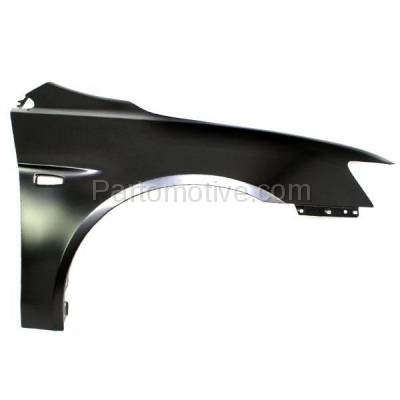Aftermarket Replacement - FDR-1424R 08-12 Lancer Front Fender Quarter Panel Passenger Side wo-Evo MI1241170 5220C528 - Image 1