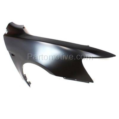 Aftermarket Replacement - FDR-1424R 08-12 Lancer Front Fender Quarter Panel Passenger Side wo-Evo MI1241170 5220C528 - Image 2