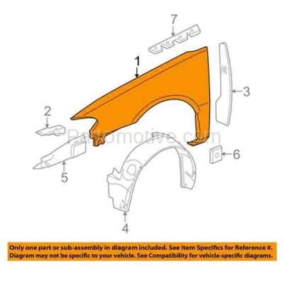 Aftermarket Replacement - FDR-1418R 05-09 LaCrosse Front Fender Quarter Panel Passenger Side RH GM1241322 89023975 - Image 3