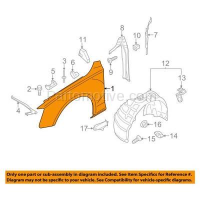 Aftermarket Replacement - FDR-1040L 09-12 A4/S4 Front Fender Quarter Panel Left Driver Side LH AU1240121 8K0821105A - Image 3