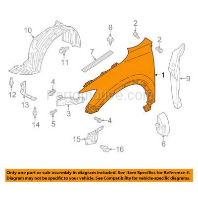 Aftermarket Replacement - FDR-1197L 13-16 CX5 Front Fender Quarter Panel Left Hand Driver Side MA1240170 KD5352211A - Image 3