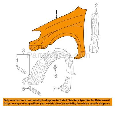 Aftermarket Replacement - FDR-1173L 03-08 Corolla CE/LE Front Fender Quarter Panel Driver Side TO1240183 5380202060 - Image 3